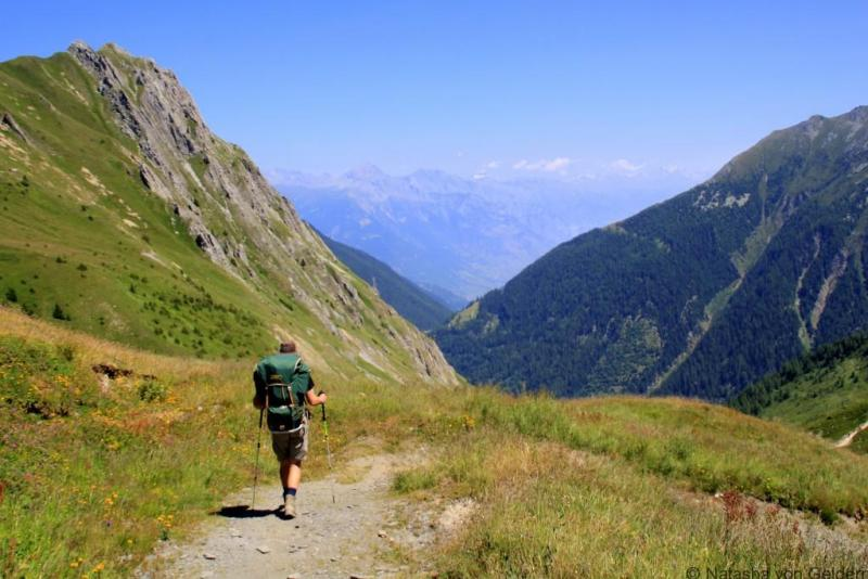 Triente Valley on the Tour du Mt Blanc