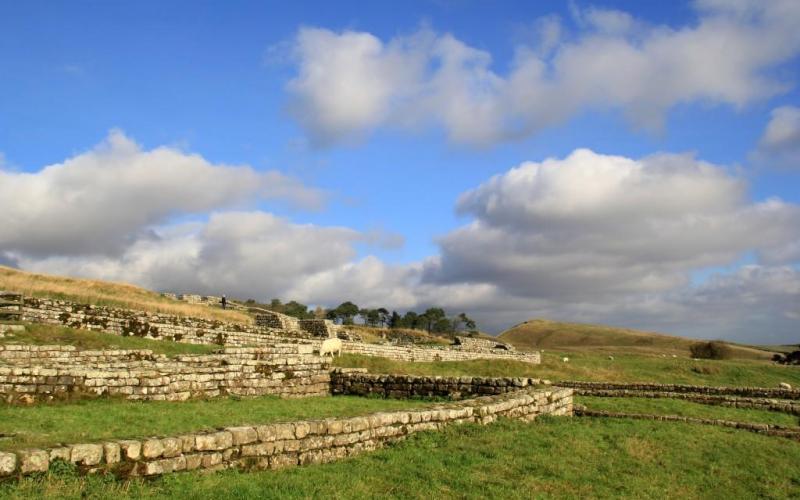 Housesteads Roman Fort Hadrians Wall England