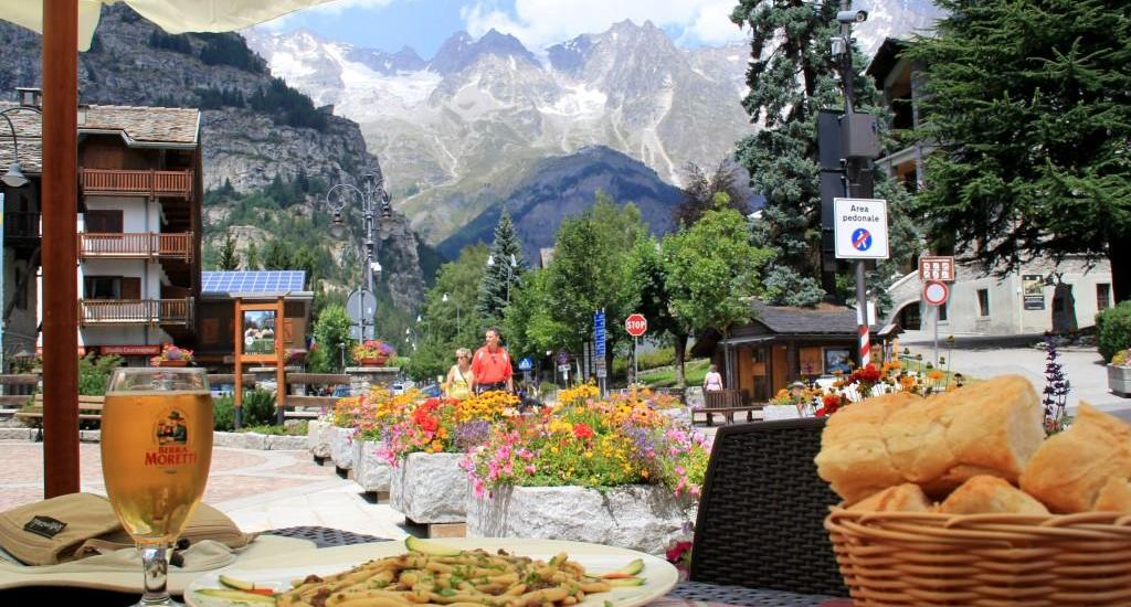 Lunch in Courmayeur, Italy
