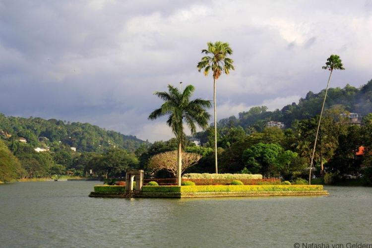 Kandy Lake shore walk Sri Lanka
