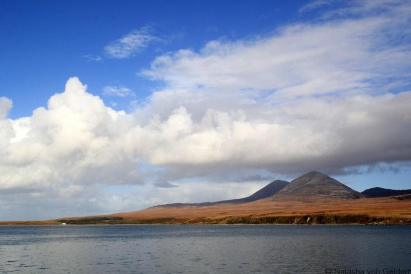 View of Jura from the Islay Ferry Scotland web