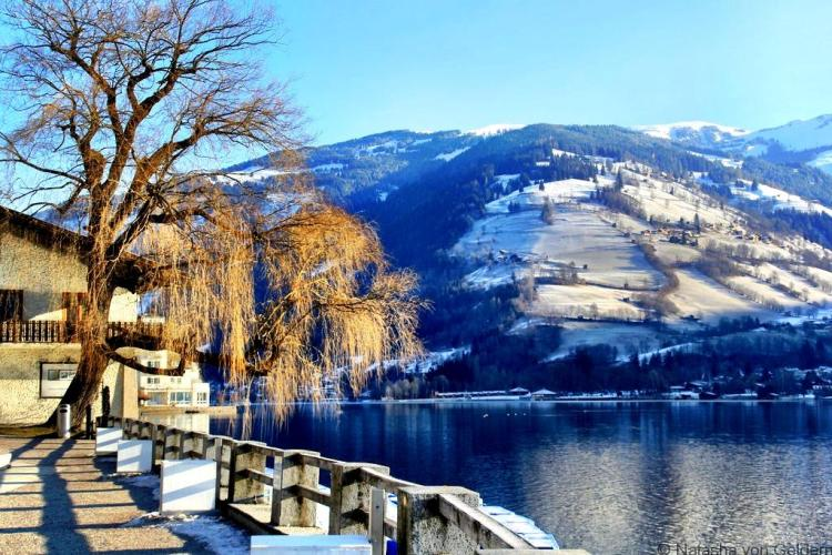 Zell am See lake walk Austria