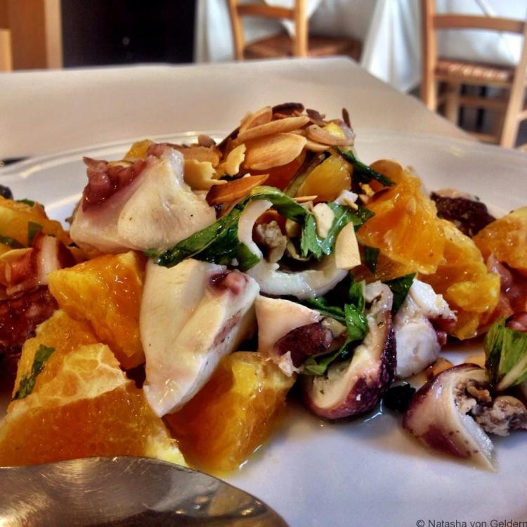 Orange and Octopus salad Sicily food