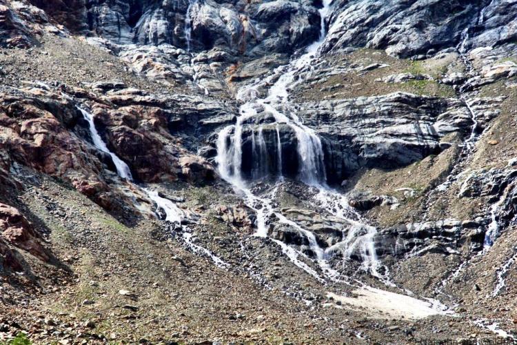 Waterfall TMB Courmayeur to Elisabetta