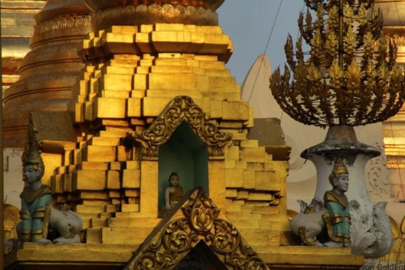 Shwedagon Pagoda decoration Yangon Myanmar