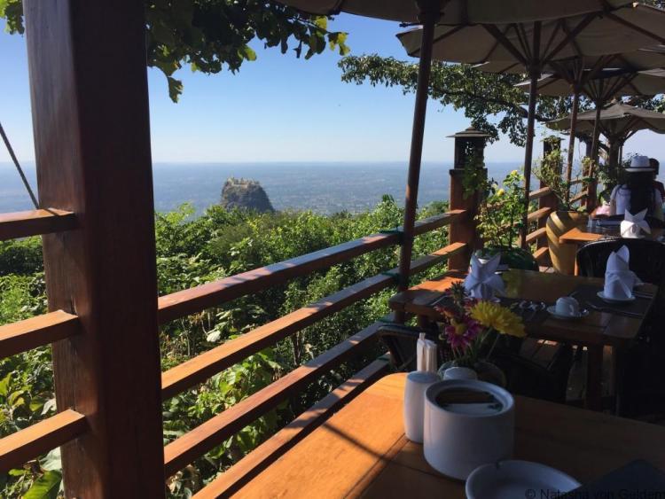 View from Mt Poppa Resort Myanmar
