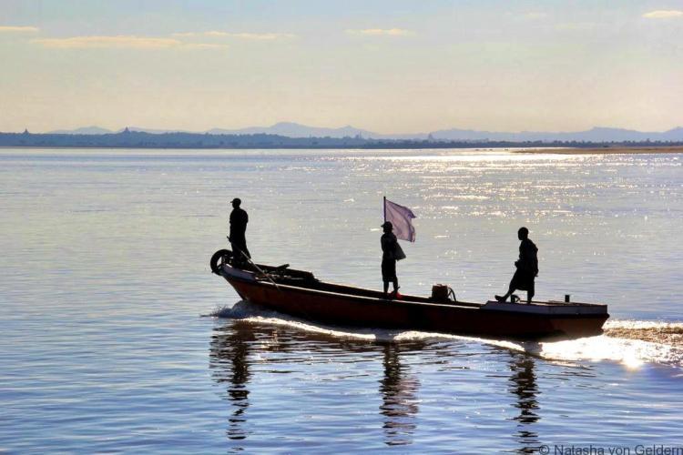Ayeyarwady River Mandalay to Bagan boat Myanmar