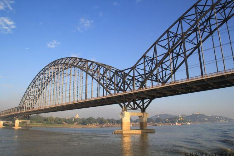 Bridges across the Ayeyarwady in Myanmar