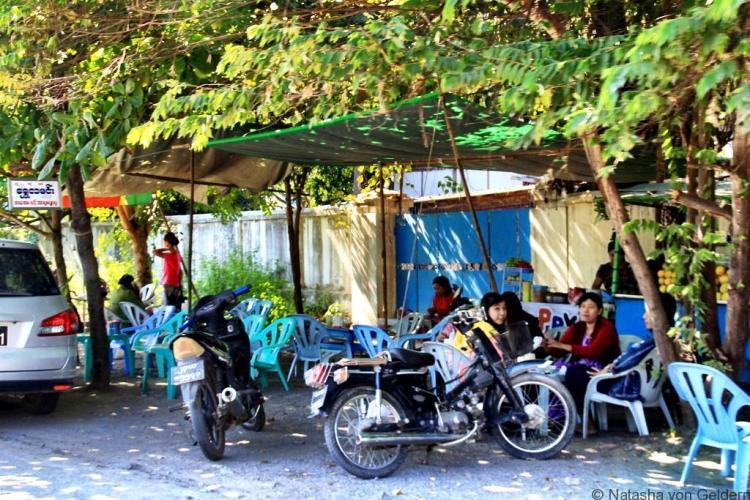 Smoothie stall in Mandalay Myanmar