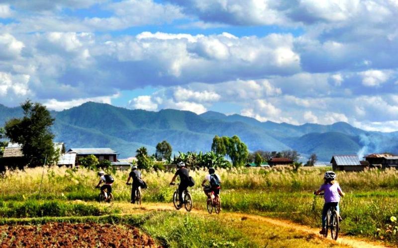 Inle Lake bike tour with Grasshopper Adventures Myanmar