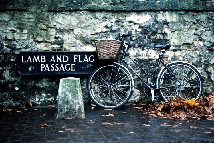Lamb and Flag Passage Oxford, Photo by Kris Krug via the Creative Commons License