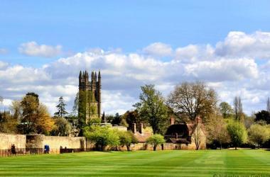 Oxford across the fields, England