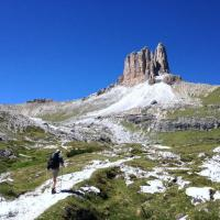 Hiking the Alta Via 4 in the Dolomite Mountains of Italy