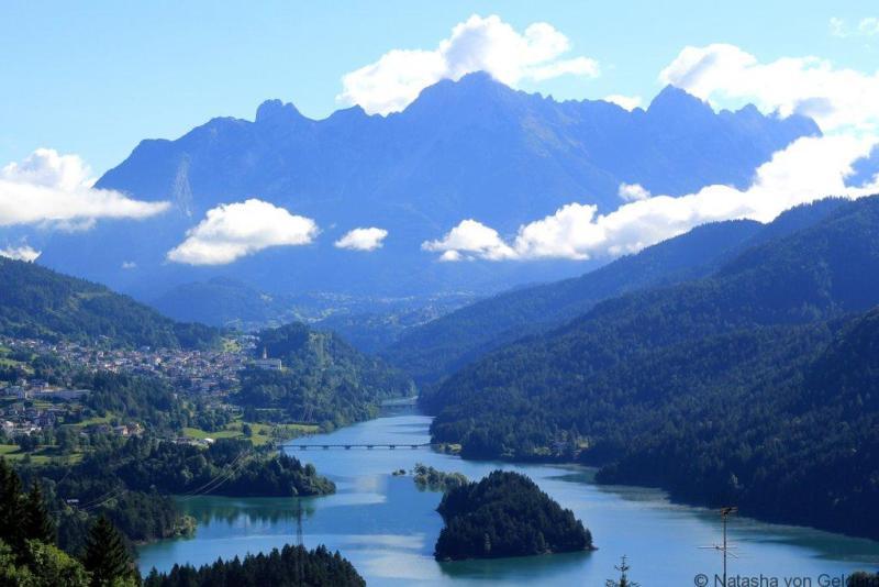 Lago di Cadore Dolomite Mountains Italy