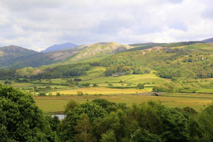 View from Muncaster Castle Lake District