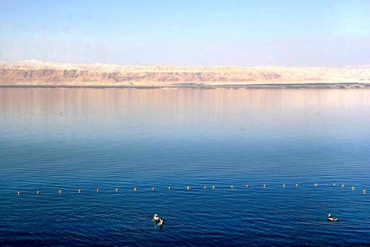 The beautiful Dead Sea Jordan and views of Israel