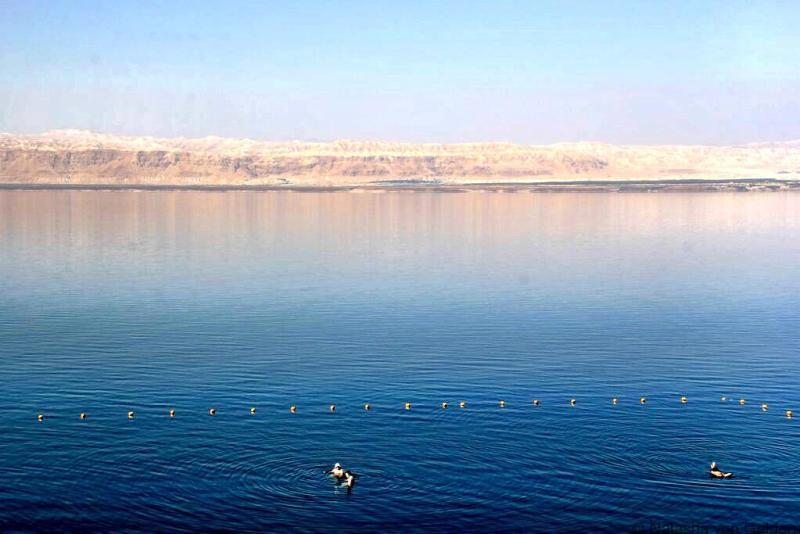 The beautiful Dead Sea Jordan and views of Israel