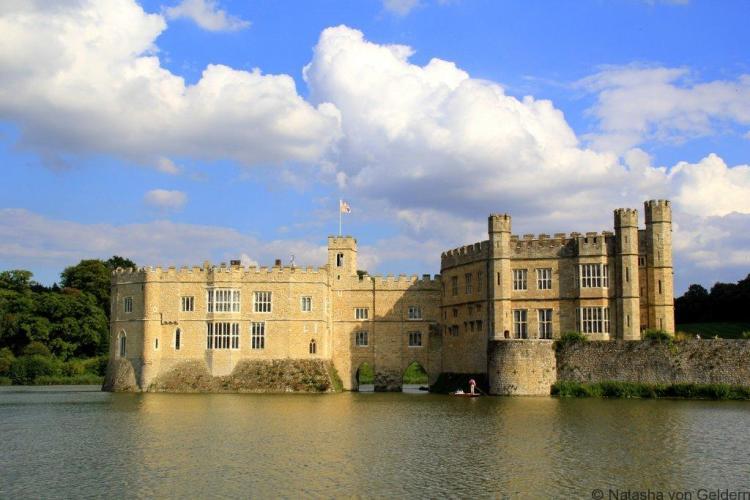 Leeds Castle Kent across the lake England (1)