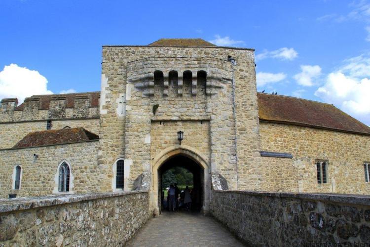 Leeds Castle gatehouse Kent England