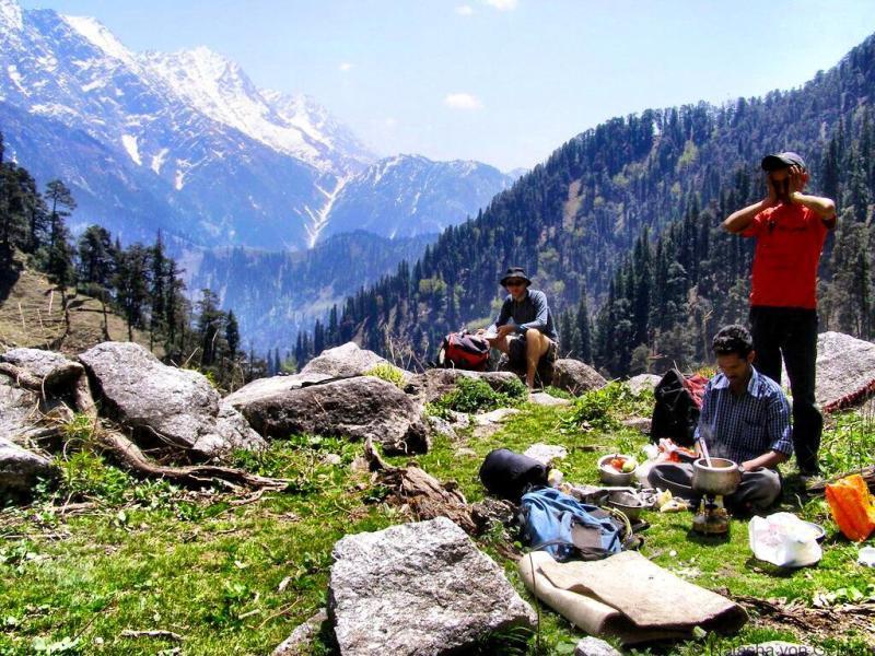 Trekking from McLeod Ganj Dharamshala India