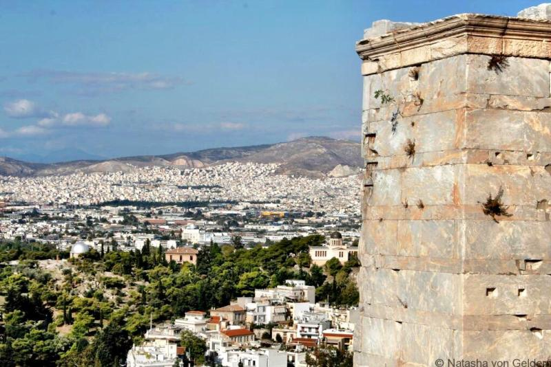 View from the Parthenon Athens Greece