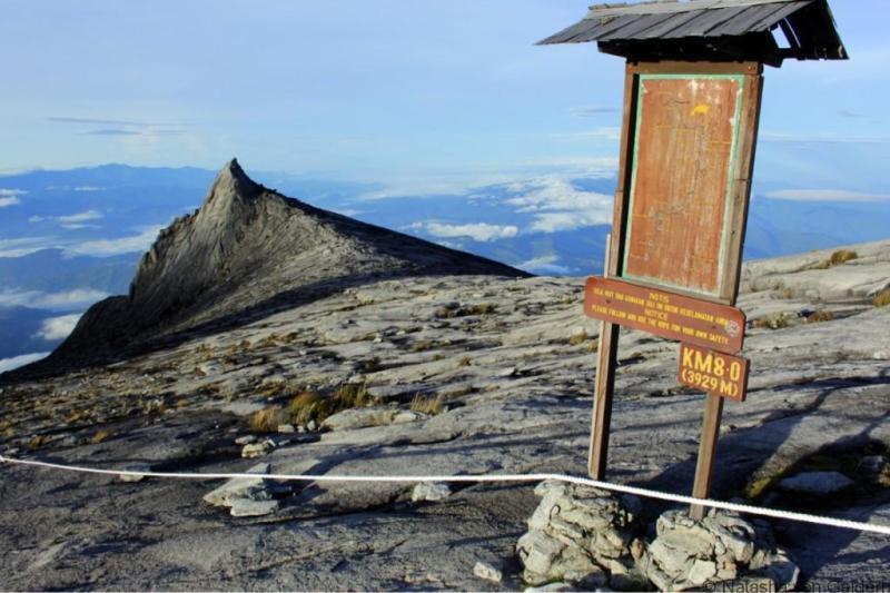 Summit views from Mt Kinabalu Malaysia