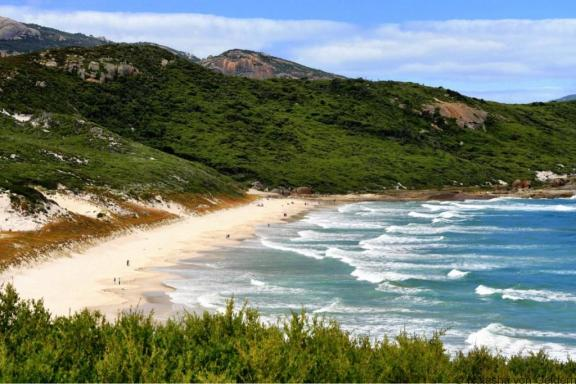 Views of Squeaky Beach Wilsons Promontory Victoria Australia