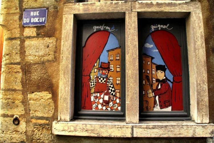 Lyon window art France