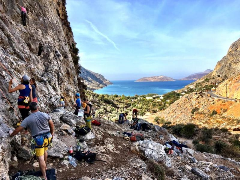 Agrinonta Valley rock climbing Kalymnos Greece
