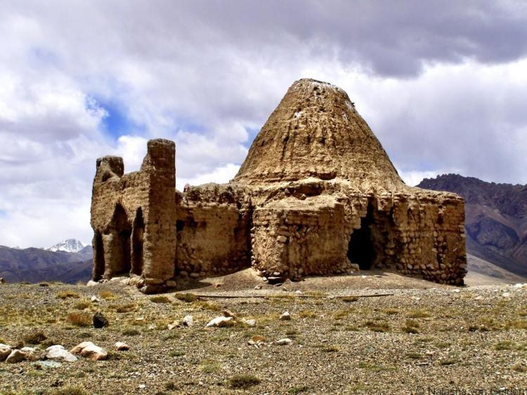 Ancient temple on the Pamir Highway GBAO Tajikistan