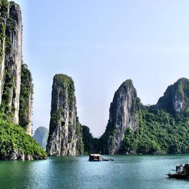 Ha Long Bay cruise landscape Vietnam