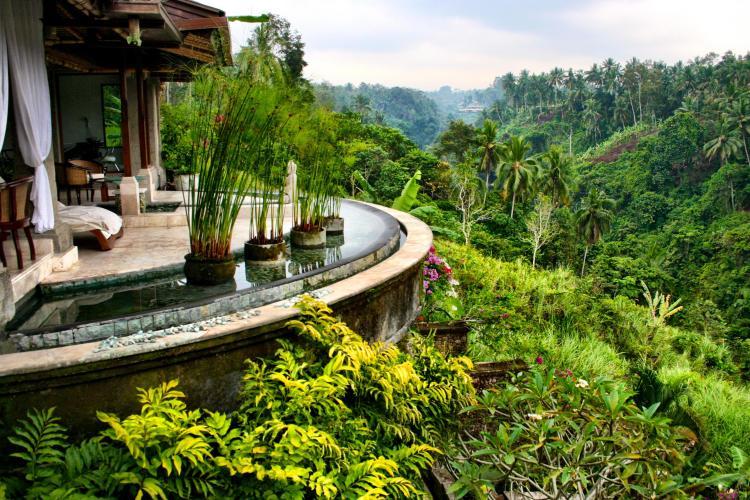 Viceroy spa view in Ubud Bali