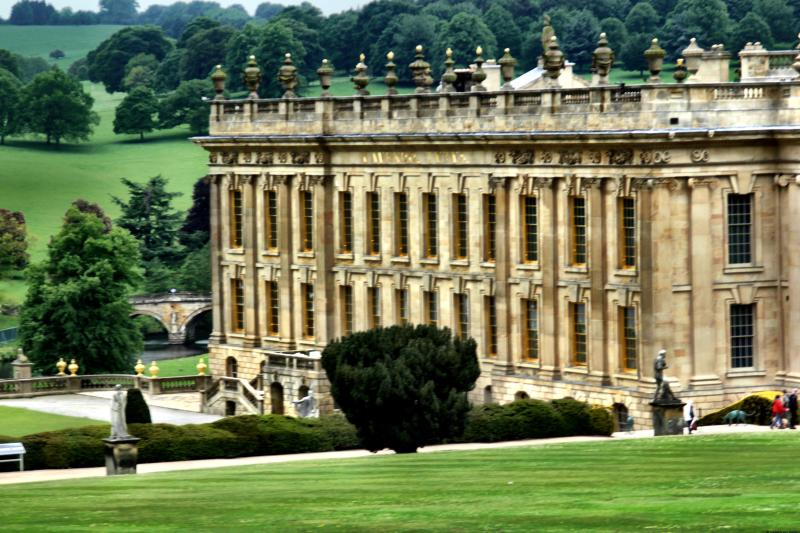 Chatsworth House Derbyshire England - inspiration for Jane Austen's Pride and Prejudice