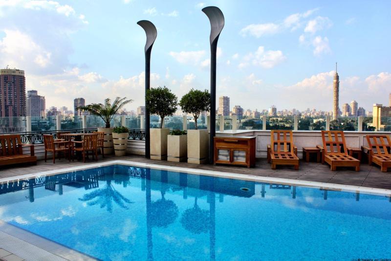 Kempinski Hotel Cairo rooftop pool Egypt