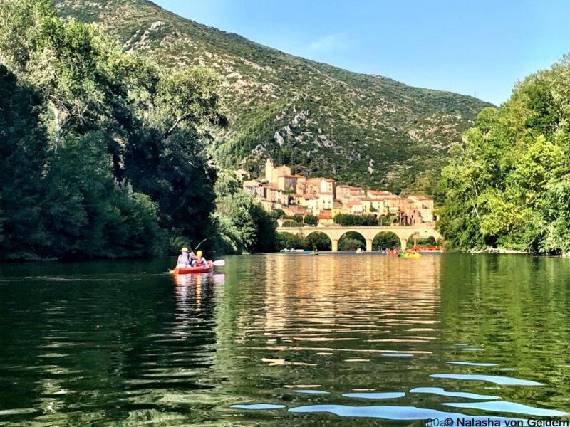 Canoe Roquebrun in Herault, Languedoc-Roussillon