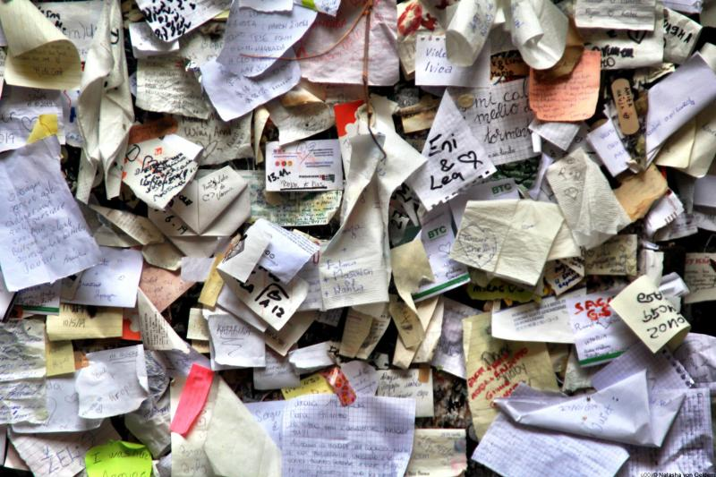 Messages for Juliet in Verona Italy