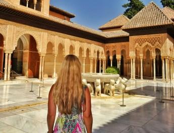 Alhambra palace Granada Andalusia Spain