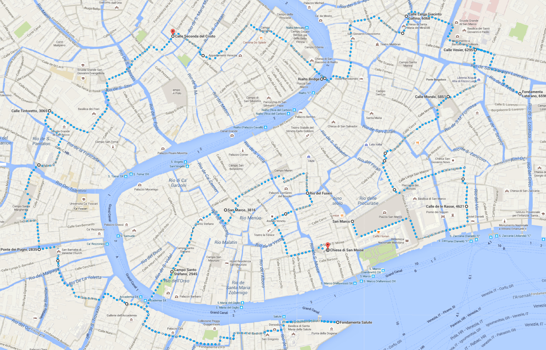 Venice In One Day Places You Must See Walking Map World - Venice map image