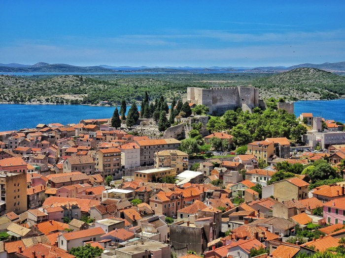 Sibenik view from Barone Fortress