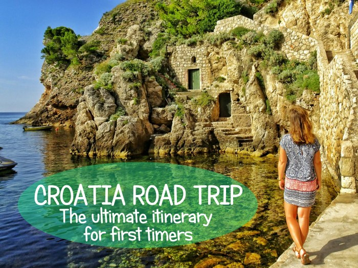 Croatia roadtrip itinerary