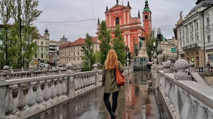 One day in Ljubljana Slovenia