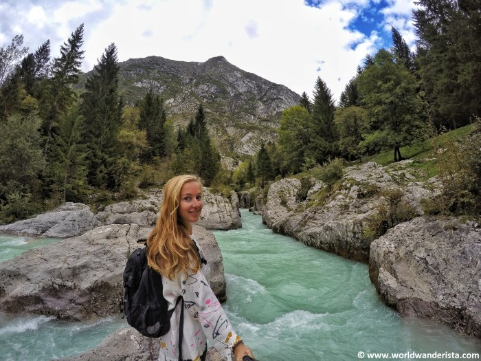 hiking in Slovenia Soca