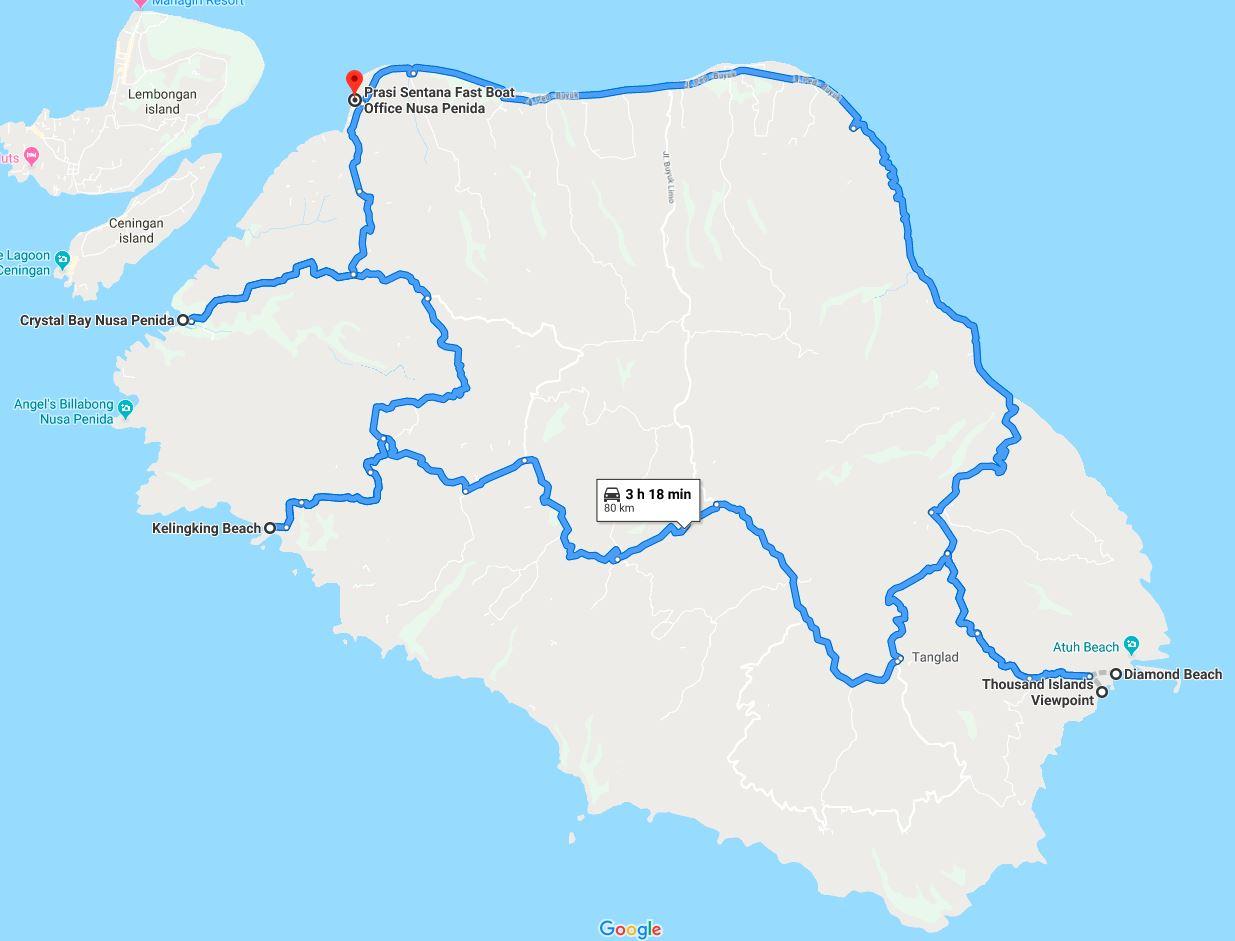 Bali-Road-Trip-Map-nusa-penida - WORLD WANDERISTA
