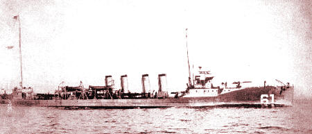 Image result for USS Jacob Jones (DD-61)