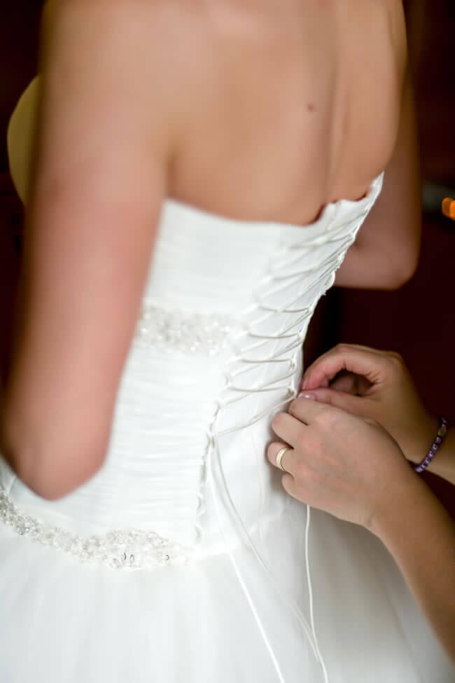 There are many different things brides choose to do with their wedding dresses once the big day is over.