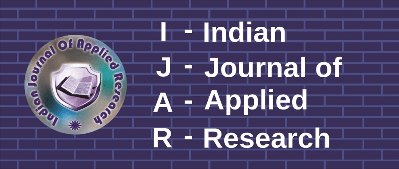 IJAR - Indian Journal of Applied Research - Banner