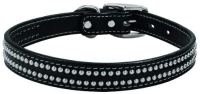 Weaver twin stud black leather lead
