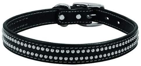 Weaver twin stud black leather lead