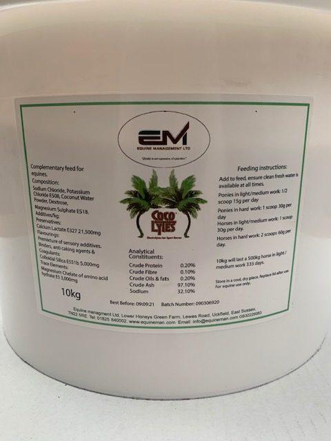 Coco Lytes Electrolytes 10kg tub back