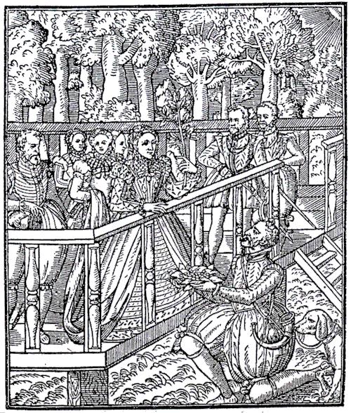 Fewmets being shown to Queen Elizabeth I
